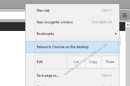 relaunch google chrome on windows8