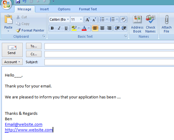compose email template - how to create an email template in microsoft outlook 2007